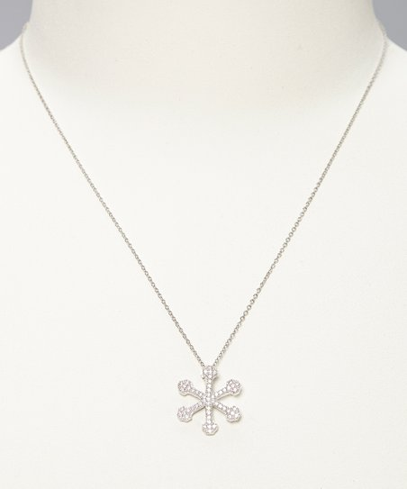 Sterling Silver Snowflake Pendant Necklace