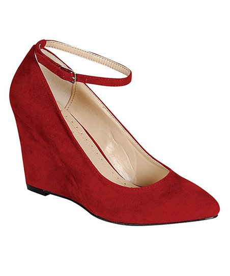 Bordeaux Reya Strap Wedge