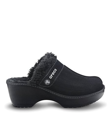 Black Crocs Cobbler Leather Clog - Women