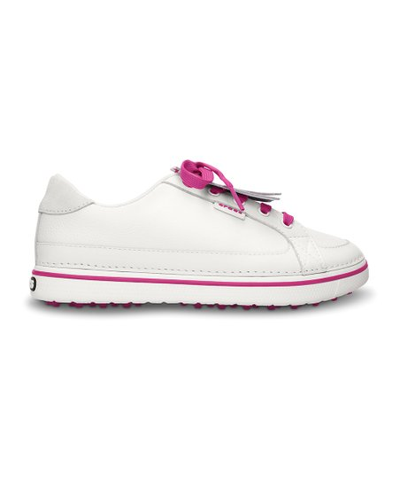 White & Fuchsia Bradyn Golf Shoe - Women