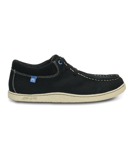 Black & Sea Blue Ocean Minded™ Minoa Canvas Lace-Up Shoe - Men