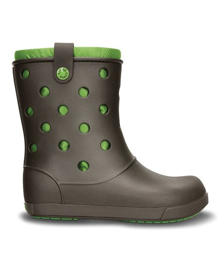 Espresso & Parrot Green Crocband™ Arc Boot - Women
