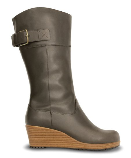 Espresso & Walnut A-leigh Leather Boot - Women