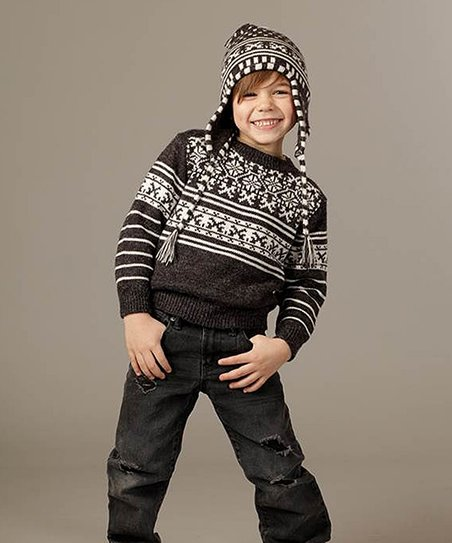 Charcoal & Milk Sweater - Toddler & Kids