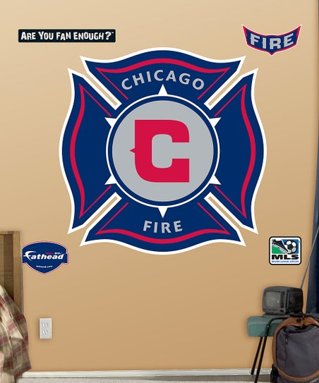 Fathead Chicago Fire Logo Wall Decal Set