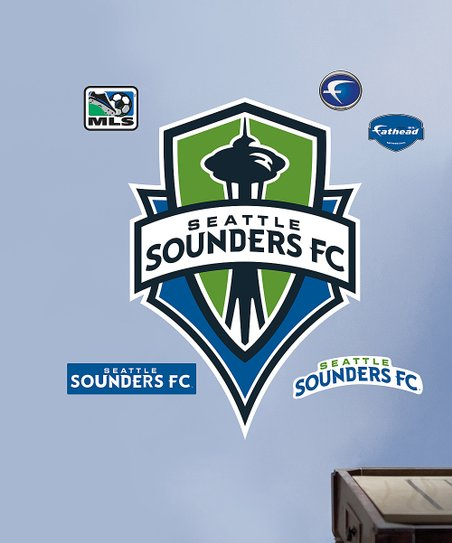 Fathead Seattle Sounders Logo Wall Decal Set