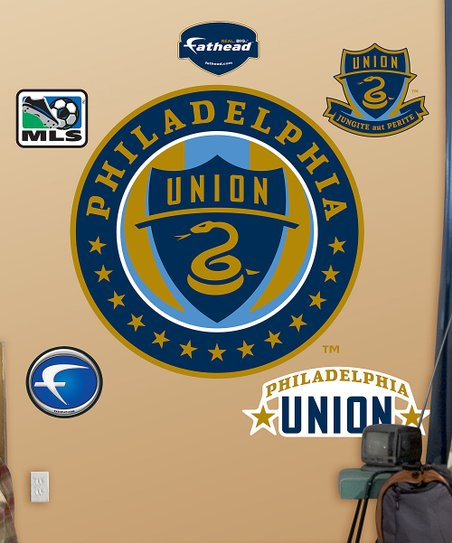 Fathead Philadelphia Union Logo Wall Decal Set