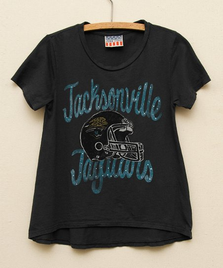 Black Jacksonville Jaguars Hi-Low Tee - Toddler & Girls