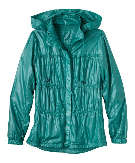 Turquoise Tegan Hooded Jacket