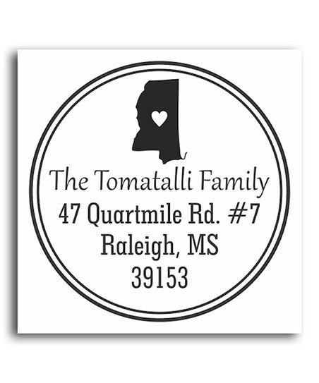 Mississippi Classic Personalized Self-Inking Stamp