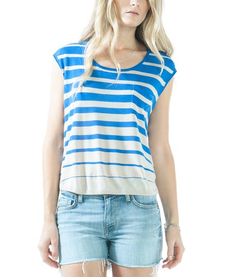 Ocean Stripe & Blue Stripe Hampton Top