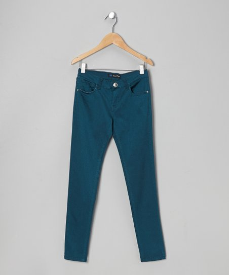 Dark Green Twill Jeans - Toddler & Girls