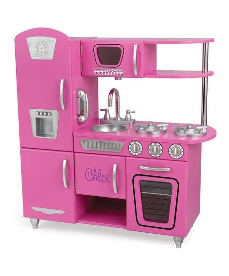 KidKraft Bubblegum Personalized Vintage Kitchen