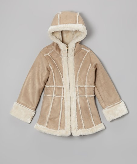Safari Faux Shearling Jacket - Toddler & Girls