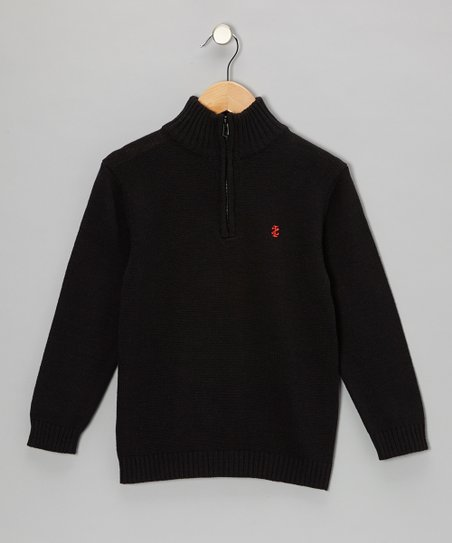 Deep Black Pullover - Boys