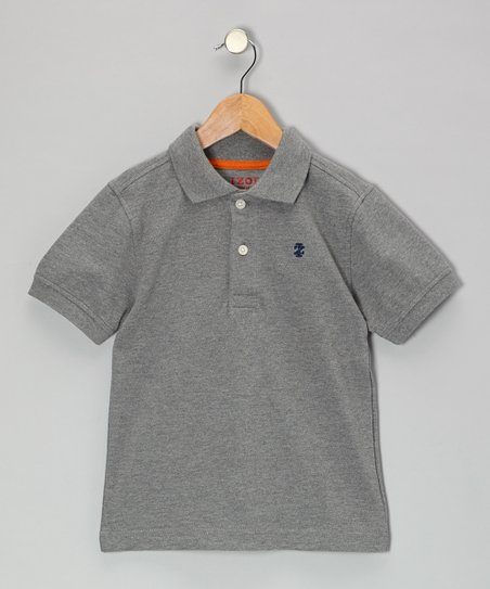 Gray Piqué Polo - Boys
