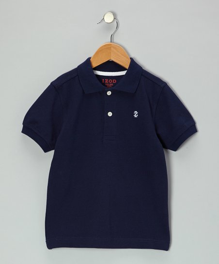 Peacoat Blue Piqué Polo - Toddler & Boys