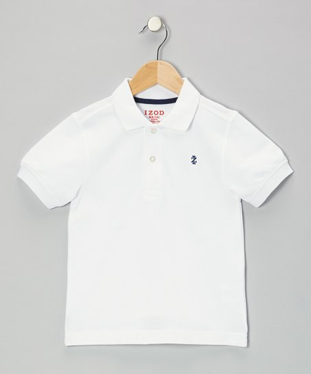 White Piqué Polo - Boys