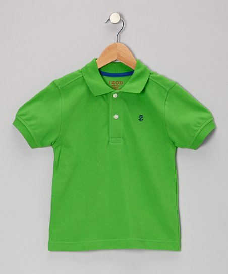 Neon Green Piqué Polo - Boys