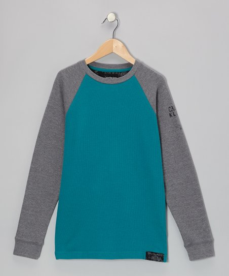 Blue Largo & Gray Raglan Thermal - Boys