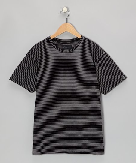 Black Stripe Crewneck Tee - Infant