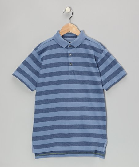 Colony Blue Feeder Stripe Polo - Infant, Toddler & Boys