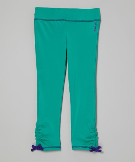 Teal Ruched Leggings