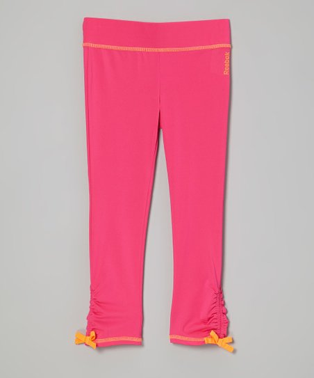 Hot Pink Ruched Leggings