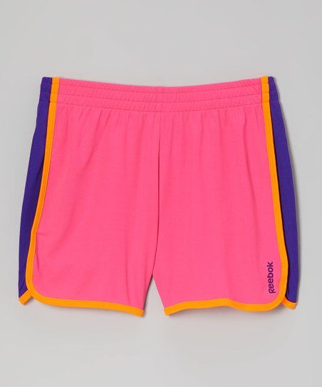 Hot Pink Color Block Shorts