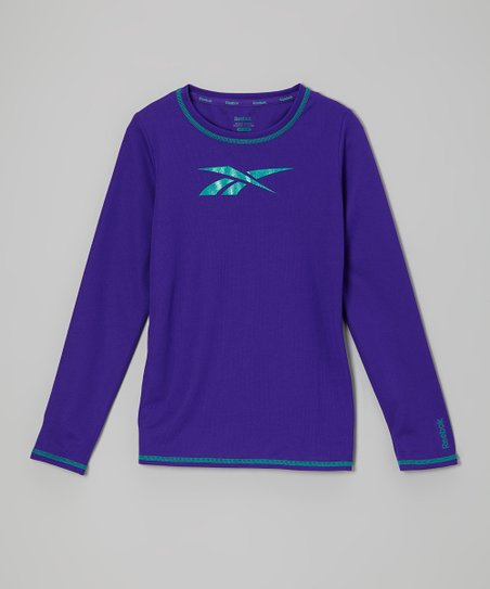 Bright Violet Mesh Long-Sleeve Top