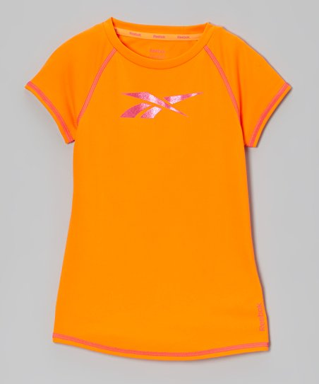 Neon Orange Raglan Top