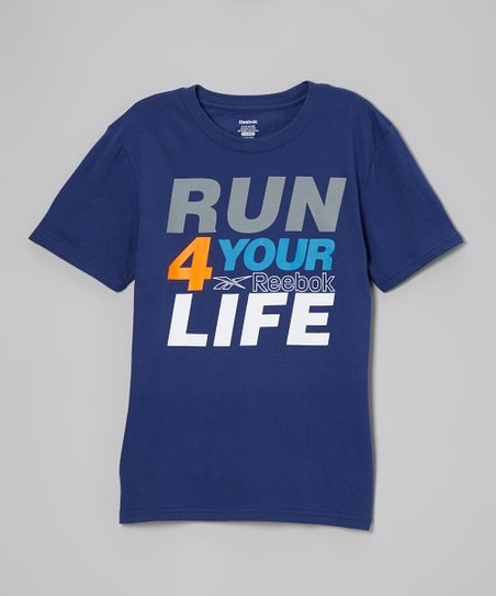 Club Blue 'Run 4 Your Life' Tee - Boys