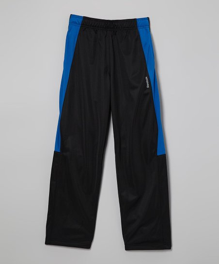 Black & Blue Track Pants - Boys