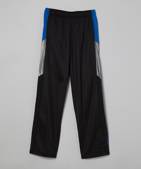 Black & Gray Track Pants - Boys