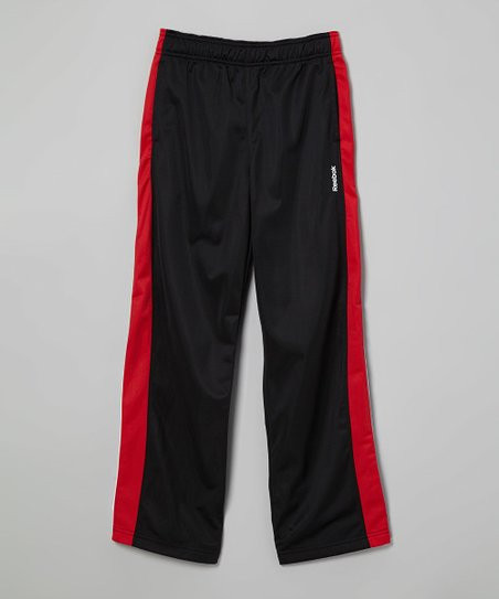 Black & Red Track Pants - Boys