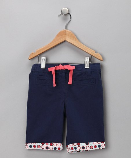 Navy Victorian Organic Shorts - Infant, Toddler & Girls