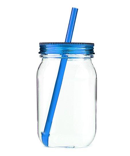 Blue Acrylic Mason Jar Tumbler