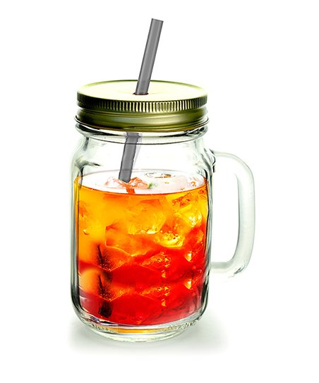 Gold Moonshine Shindig Glass Mason Jar