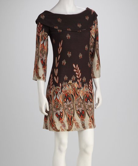 Brown Arabesque Dress