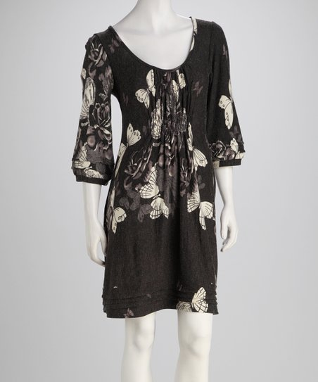Black Butterflies Dress