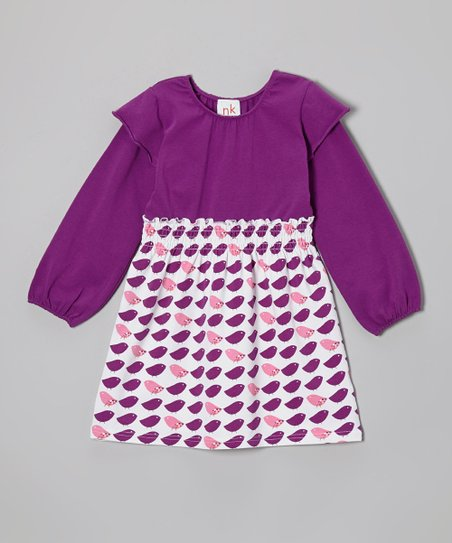 Purple Bird Olivia Dress - Infant, Toddler & Girls