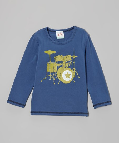 Blue Drum Tee - Toddler & Boys