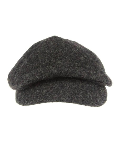 Heather Gray Wool Cabbie Hat