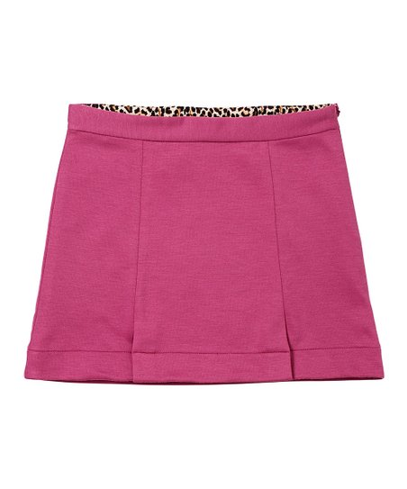Deep Mauve Ponte Skirt - Girls