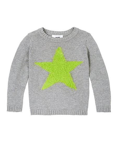 Light Heather Gray Star Sweater - Infant & Toddler