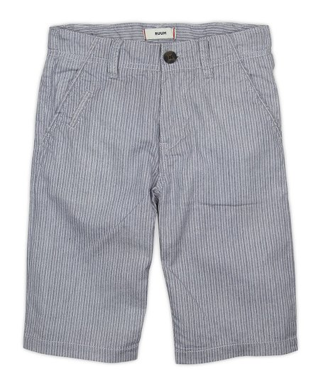 Ink Blue Stripe Shorts - Boys