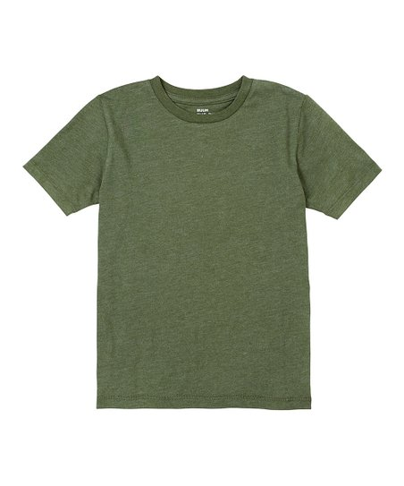 Army Green Heather Crew Tee - Toddler & Boys