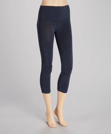 Heather Denim Seamless Shaper High-Waisted Leggings