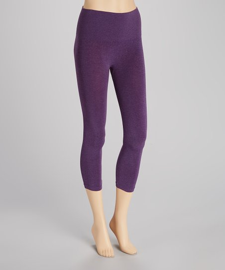 Heather Purple Seamless Shaper High-Waisted Leggings
