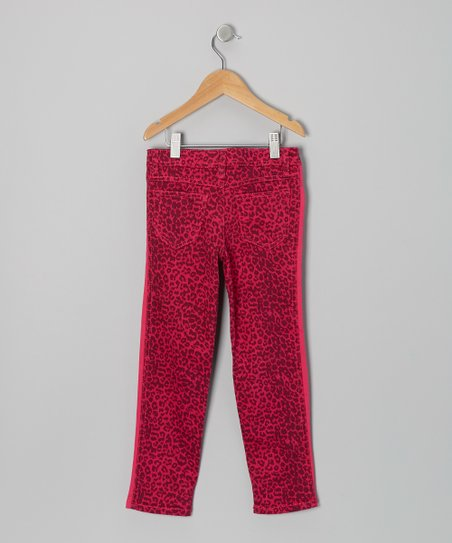 Pink Leopard Skinny Pants - Toddler